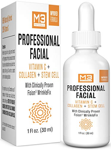 M3 Naturals Vitamin C Serum with Hyaluronic Acid for Face & Eyes Topical Facial Serum Natural Skin Care Acne Treatment Anti Aging Anti Wrinkle Dark Spots Vitamin E 1 FL OZ