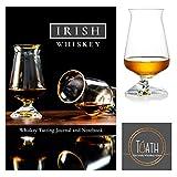 El vaso de whisky irlandés oficial de Tudath – el vaso de whisky de Irlanda – empaquetado con el diario de sabor de whisky irlandés y cuaderno Regalo perfecto para whisky