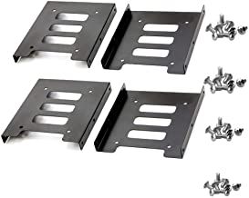 TANG SONG 4PCS 2.5 to 3.5 SSD HDD Hard Disk Drive Bays Holder Metal Mounting Bracket Adapter with Screws for PC SSD