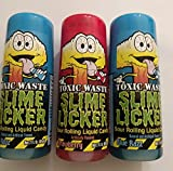 Slime Licker Bundle of Sour Rolling Liquid Candy One Strawberry and Two Blue Razz Flavor 2oz Each from Generic