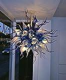 SHIJING Startseite Kronleuchter Lampen LED 100% Mundgeblasen Borosilikat Murano Farbiges Glas Moderne Leuchter-Beleuchtung
