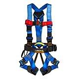 Fusion Climb TCH-107-2FBN-S Full Body Climbing Harness, Blue Black, One Size