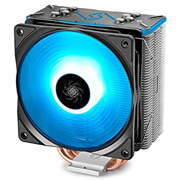 DEEPCOOL GAMMAXX GT BK CPU Air Cooler SYNC RGB Fan and RGB Black Top Cover Cable or Motherboard Control Supported 4 Heatpipes 120mm RGB Fan Universal Socket Solution