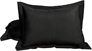 uxcell 100% Brushed Microfiber 12 x 16 Inch Pillow Shams Set of 2, Wrinkle, Fade, Stain Resistant, Envelope Closure, Black Soft Pillowcases
