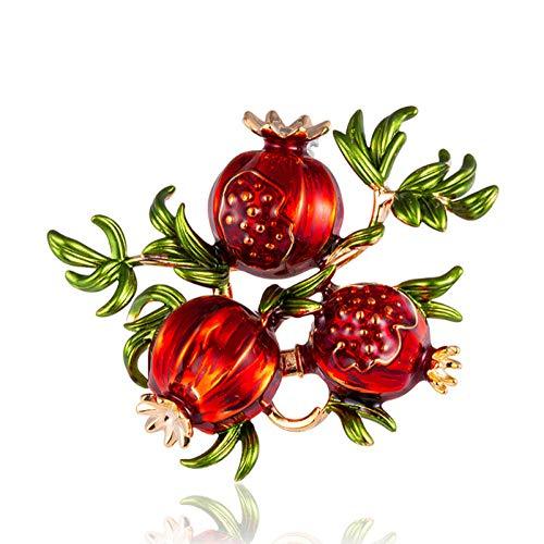 GLJIJID Schmuck Broschen Frauen Mädchen Geschenkbox, DIY Obst Legierung Damen Schneemann Weihnachtsbaum