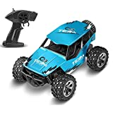 RC Car Remote Control Truck: 9.3MPH High Speed Off-Road 2.4GHZ Hobby RC Trucks for All Terrain | Electric Toy Cars 1:18 Scale Metal Shell RC Vehicles with Rechargeable Battery for Kids Boy's Gift