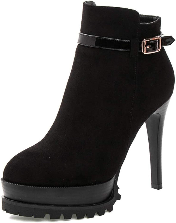 LBTSQ-Martin Schuhe Stiefel Stiletto Stiletto Stiletto Heels 11Cm Mode-Jacke Wasserdicht Plüsch Dicke Sohle Warm Damenschuhe  4ab758