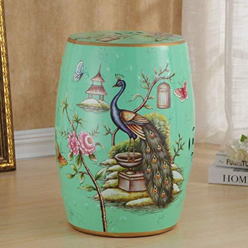 YZjk Schuhhocker - Keramikhocker Trommelhocker Chinesischer Keramikhocker Flower Bird Keramikhocker Antiker Hocker Klassischer Dressinghocker (Farbe: B)