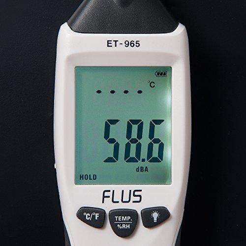 サンワダイレクト騒音計/温湿度計/照度計/風速計1台5役マルチ測定器電池駆動専用ケース付400-TST965