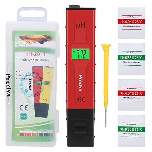PH Meter Tester Preciva 0.01 Resolution Digital Automatic Water PH Meter...
