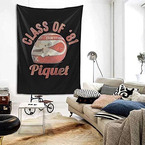 QIANWEI Nelson Piquet Motor Racing Legend Tapiz de decoración de Pared Exclusivo Tapiz para Colgar en la Pared Mantas de Fondo de Pared Multiusos para Sala de Estar Dormitorio Talla única230*180cm