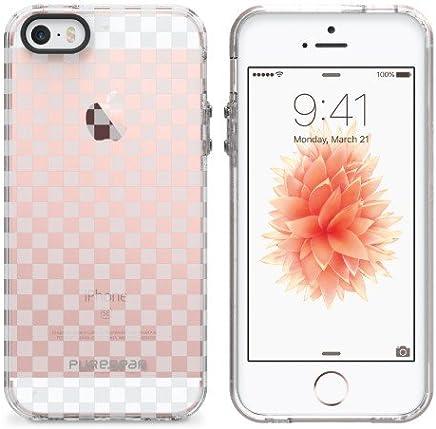 PureGear For iPhone SE/5s/5 クリアモチーフ・スリム・ハードケース チェッカーズ 61473PG
