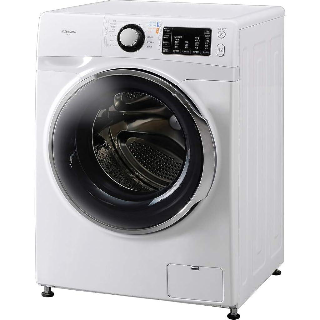マイル変装最も遠いアイリスオーヤマ ドラム式洗濯機 温水洗浄機能付き 左開き 幅595mm 奥行672mm 7.5kg FL71-W/W