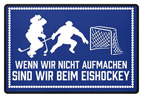 shirt-o-magic Eishockeyfan: .sind wir beim Eishockey - Fußmatte -60x40cm-Royal Blau