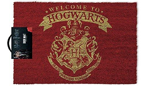yvolve Harry Potter - Welcome to Hogwarts - Fußmatte Offizielles Merchandise aus Kokos und Kunststoff in Rot
