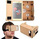 duragadget maschera realtà virtuale per cellulari zte blade a910 / nubia n1 | oppo a79 | huawei honor view 10 - con fascia regolabile