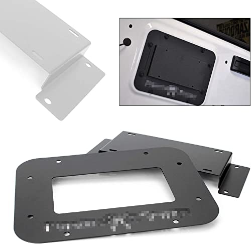 discount Mallofusa lowest Textured Black Spare Tire Carrier Delete Filler Plate Tramp Stamp discount Compatible for 2010-2018 Jeep Wrangler JK online sale