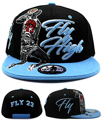 Greatest 23 Chicago New MJ Legend Fly High Black City of Chicago Blue Era Snapback Hat Cap
