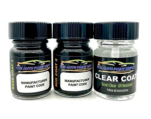 Auto Paint Depot Touch Up Paint for Cadillac ATS, CTS, Escalade, XTS-White Diamond Pearl Tricoat WA800J/98/GBN (All Years) Half Ounce with Clear Coat
