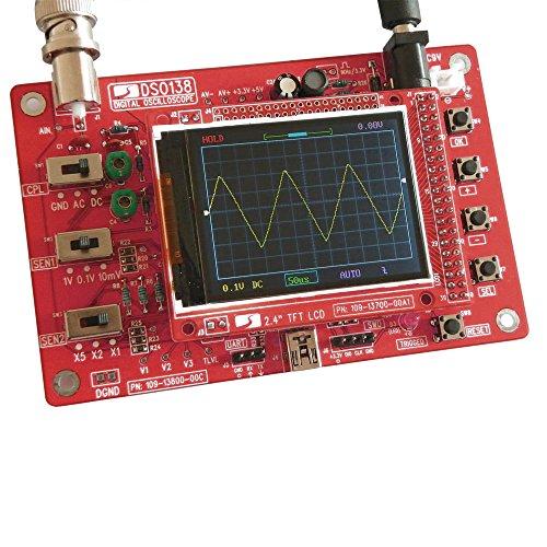 """KKmoon DSO138 2.4"""" TFT Digital Osciloscopio Equipo燚iy Partes燩ort醫il Tamano de Bolsillo燬md Soldado Electr髇ico Aprendizaje Conjunto 1Msps"""