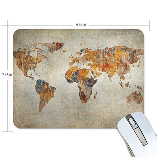 My Daily - Alfombrilla de ratón (25 x 19 x 0,5 cm), diseño de mapa del mundo