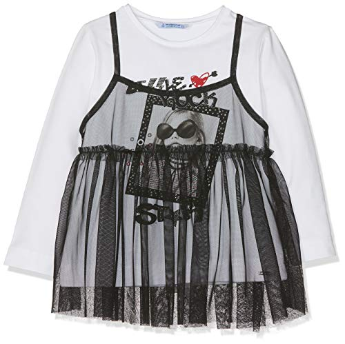 Mayoral 4052, Camiseta de manga larga para Niñas, Negro (Negro 38), 5 años (Tamaño del fabricante:5)