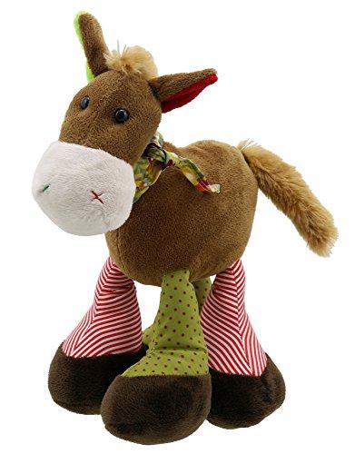 Lashuma Flauschiges Plüschtier Pferd Braun, Kuscheltier Pferdchen mit Schlenker Beinen, Stofftier Stehend 22 cm