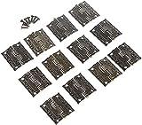 12 unids Gabinete de bronce antiguo bisagras Cajón de puerta Decorativo Mini bisagra para almacenamiento de joyas Caja de madera Muebles Hardware 26x23mm