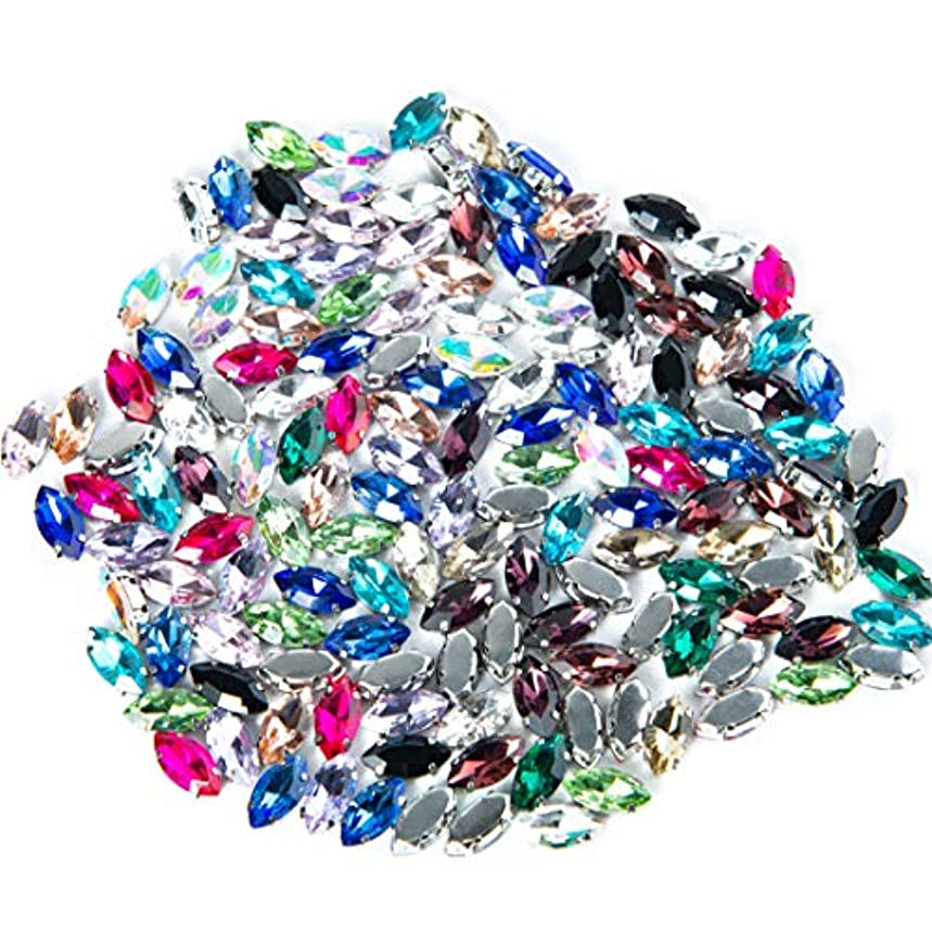 150Pcs Crystal Rhinestones Sew on, Colorful Rhinestones Flatback Beads Buttons DIY Craft for Clothes Garment, Clothing, Bags, Shoes, Dress, Wedding Party Decoration