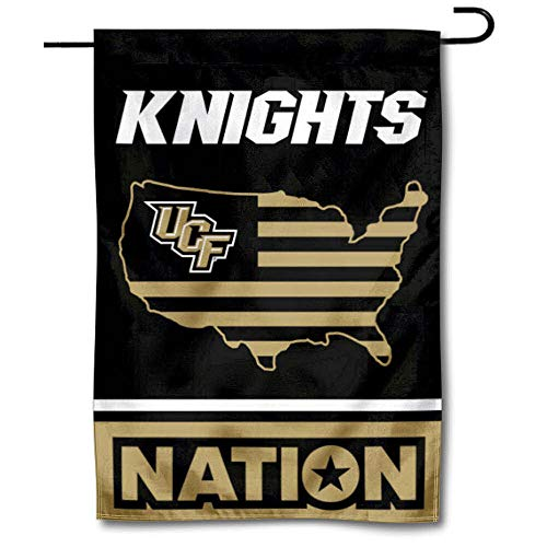 College Flags & Banners Co. Central Florida Knights Garden Flag with USA Stars and Stripes