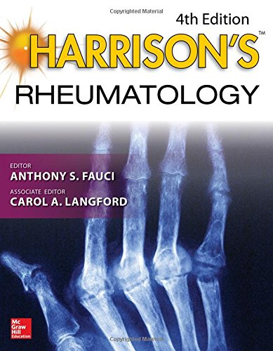 Compare Textbook Prices for Harrison's Rheumatology, Fourth Edition Harrison's Specialty 4 Edition ISBN 9781259836275 by Fauci, Anthony,Langford, Carol
