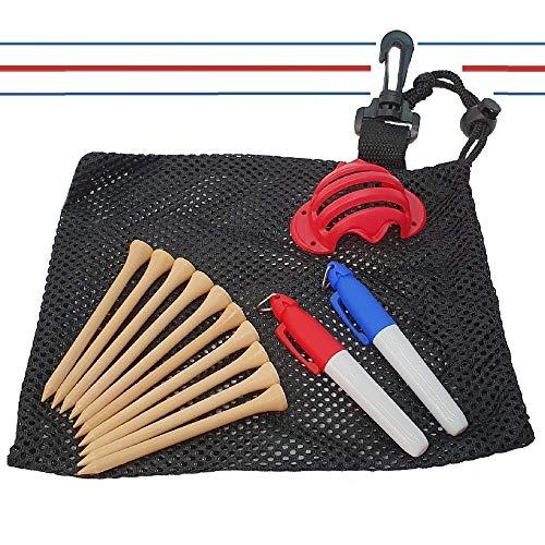 Pro-Align Triple Track Callaway Kit d'alignement de balle de golf | Accessoires de golf chromés souples ERC Odyssey | Cadeau de Noël pour papa