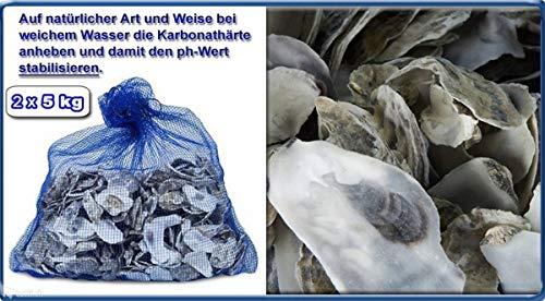 Sibo/ Aquaforte 10 KG Austernschalen für Teich und Aquarienfilter der KH und PH Stabilisator