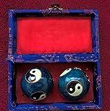 Berg Yin und Yang Klangkugeln - blau