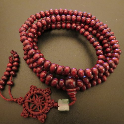 8mm*108 Green Sandalwood Prayer Beads Buddhist Sutra Mala Miyallu Ship from Canada