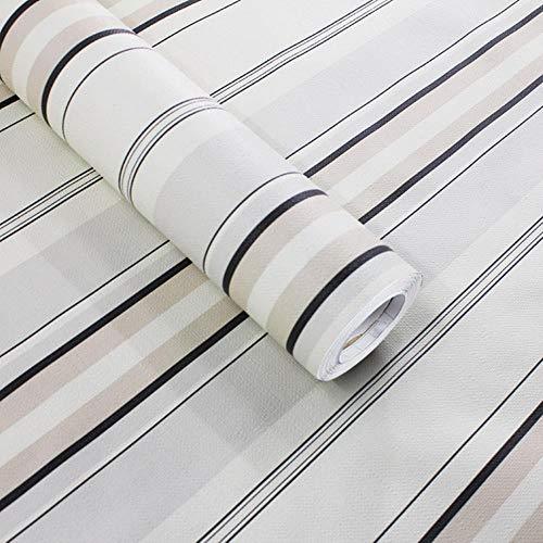 Gestreept behang DIY voor woonkamer slaapkamer muur zwart wit geruit decoratie voor thuis stickers keuken papier zelfklevende rol 10mx60cm Celeste Y Blanco