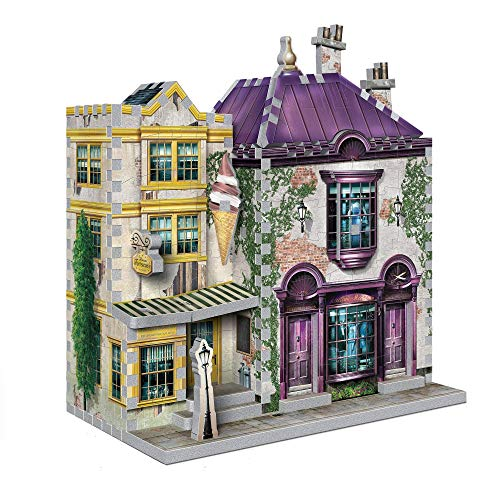 Madam Malkin's Anzüge & Florean Fortescue's Eissalon - Harry Potter. Puzzle 290 Teile: 3D-PUZZLE