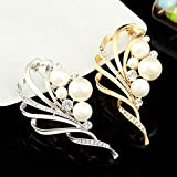 Yuechenxin Women's Brooch, Alloy Flower Water Diamond Brooch Pearl Brooch pin Accessories Accessories Accessories
