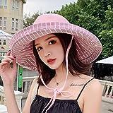 Sombrero De Playa para Nuevos Sombreros para El Sol De ala Súper Ancha con Rayas De Doble Cara, Sombrero De Verano para Mujer, Gorras De Protección Solar para La Playa, Sombre