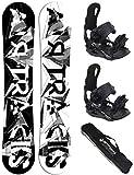 Airtracks BWF Extra Wide 161 - Tabla de snowboard con fijación suave Master L y bolsa SB