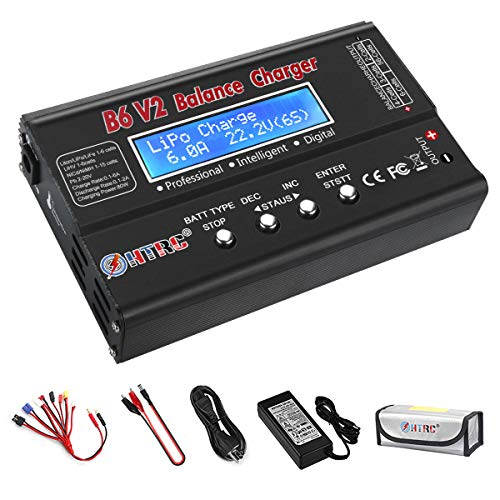 LiPo Battery Charger Fast Balance Discharger Digital Battery Pack Charger for 1S-6S LiPo NiMH/NiCD/Li-Fe/LiHV/Li-ion Packs Hobby Battery Chargers with Deans Connectors Power Supply