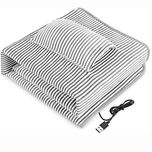 SHUWB USB Manta Eléctrica Calefactora Chal Cálido Calentado, Manta Térmica Calefaccion Franela...