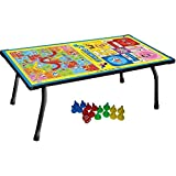 Forgesy Multicolor Multipurpose Table for Playing Ludo Snakes & Ladders Eating and Studyig