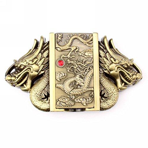 Vintage Dragon Lighter Belt Buckle Cowboy Native American Motorcyclist (LTR-05)