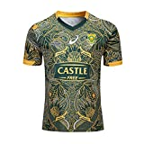 Rugby Maillot 2019 Afrique du Sud Springboks Coupe du Monde Survêtements Soccer, 7S 100e Anniversaire T-Shirts en Jersey de Rugby, T-Shirt de Football Supporter Haut de Sport-XL