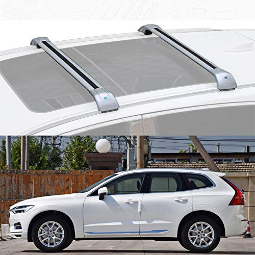 Ajuste Personalizado for Xc60 Barra De Carga Baca Portaequipajes De Aluminio for Xc60 (Color : Silver, Size : For Volvo Xc60 2018-20)