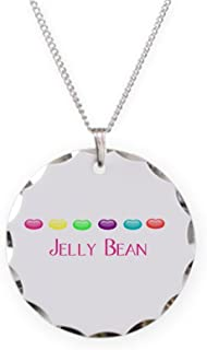 CafePress - Jelly Bean - Charm Necklace with Round Pendant