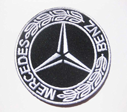 Mercedes Benz Logo Motor Auto Aufnäher Aufbügler Patch Badge Stickerei 7,5 cm 7,6 cm MB-02