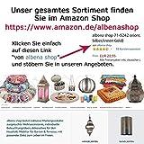 albena shop 73-109 orientalisches Tablett Kerzenteller Silber (ø 40,5 cm, Modell: Yasha) - 5