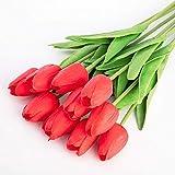 yywl Fleurs Séché 10 pcs Tulipe Fleur Artificielle Fleurs Artificielles Artificiales Fleur De Mariage Décoration de La Maison Fleur Séchée Fiori Artificiali
